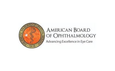 Πιστοποίηση από τον Αμερικανικό Οργανισμό American Board of Ophthalmology